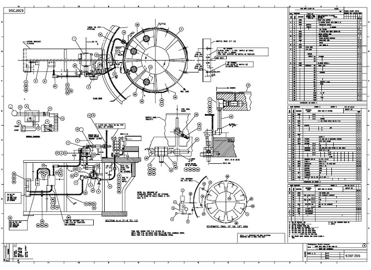 mechanical drawings samples